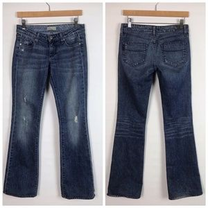 Paige Laurel Canyon Distressed Boot Cut Jeans 26